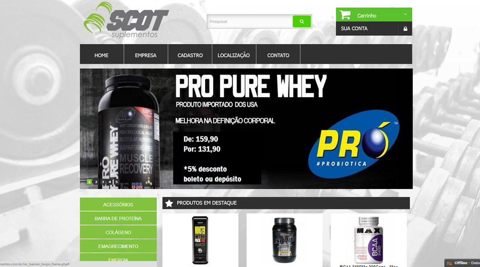 Website | Layout <br> <br>  <br> www.scotsuplementos.com.br<br>  Cambuquira - MG