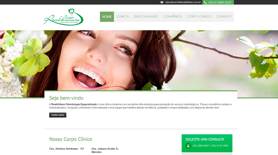 Website | Layout <br> <br>  <br> www.reabilittarecom.br<br>  Belo Horizonte - MG