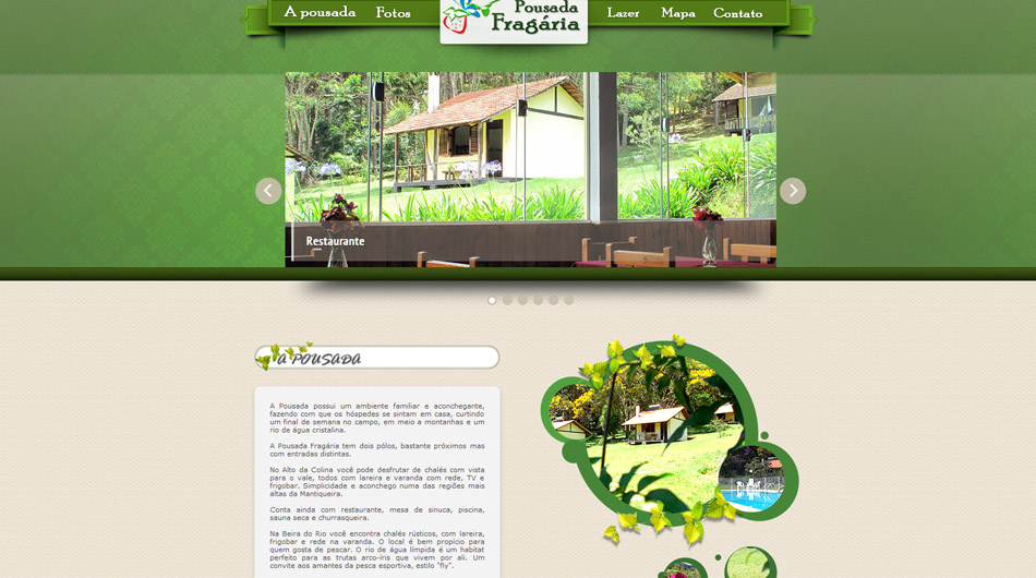 Website | Layout <br> <br>  <br> www.fragaria.com.br<br>  Itamonte - MG