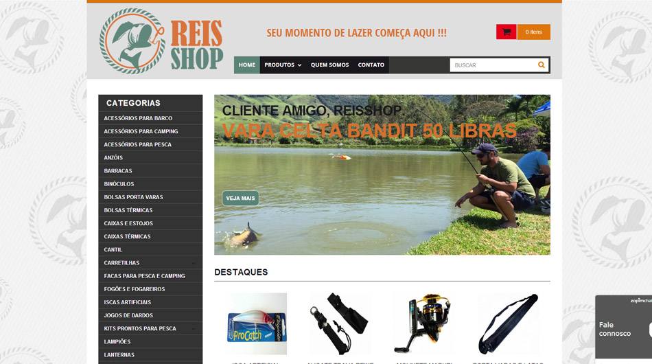 Website | Layout <br> <br>  <br> www.reisshop.com.br<br>  Cambuquira - MG